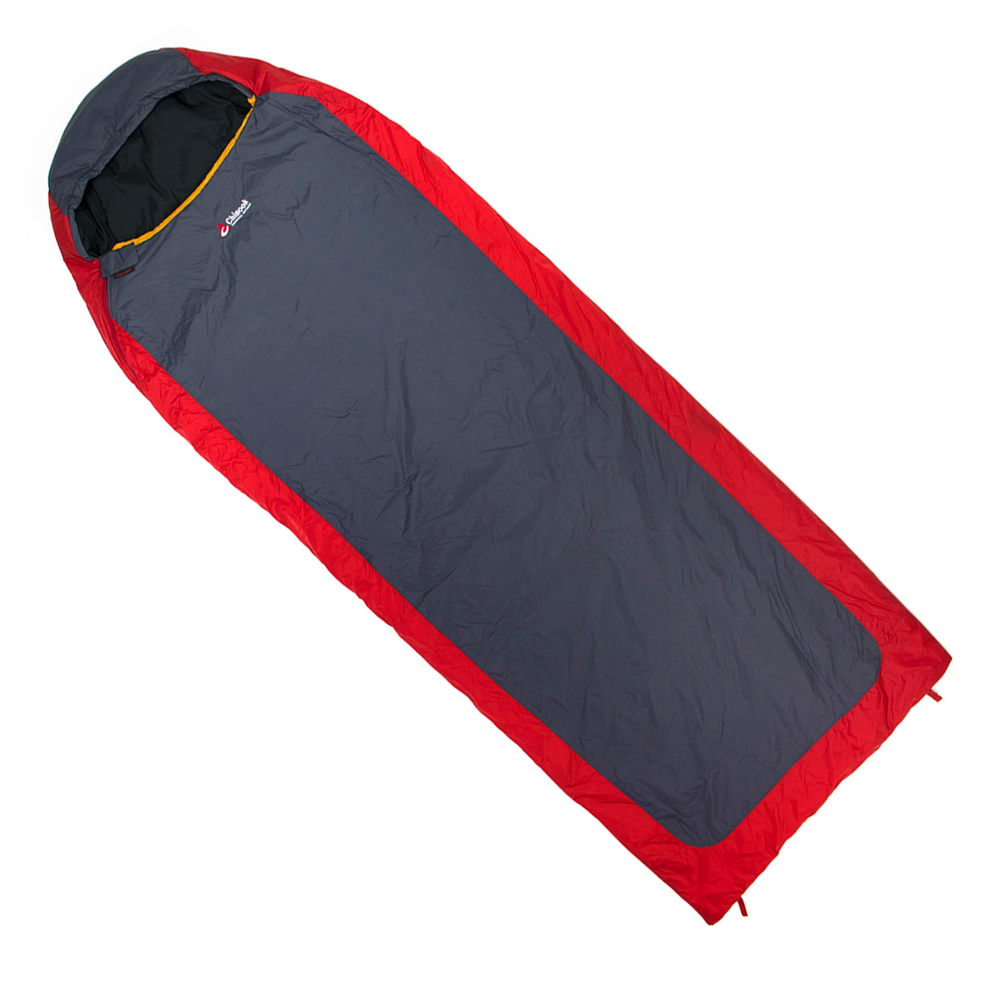 Chinook Mummy Sleeping Bag Everest Micro II 32° F, Red/Gray