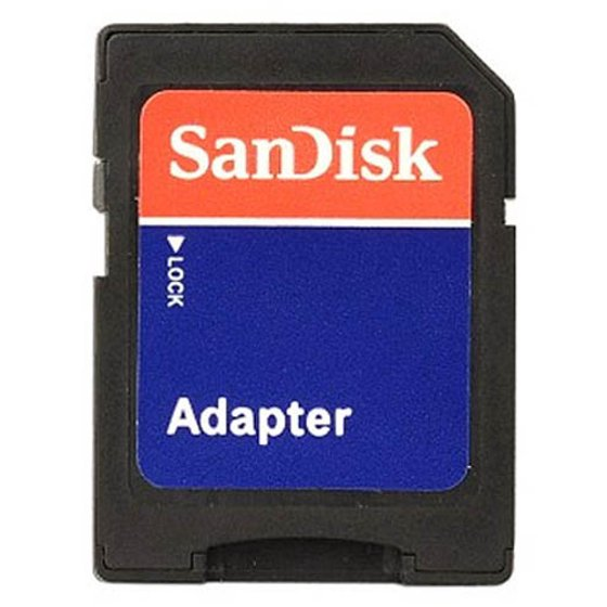 SanDisk MicroSD Micro SD To HC SDHC Memory Card Adapter Reader