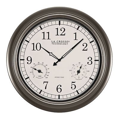 La Crosse Technology WT-3181PL Atomic Outdoor Clock with ...