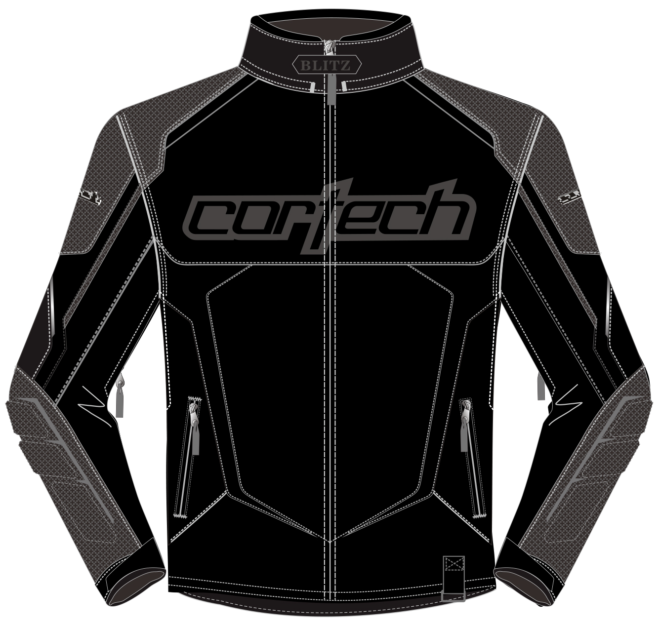 Cortech Blitz 3.0 Snowcross Jacket Black/Gun Metal LRG  8927-0305-06