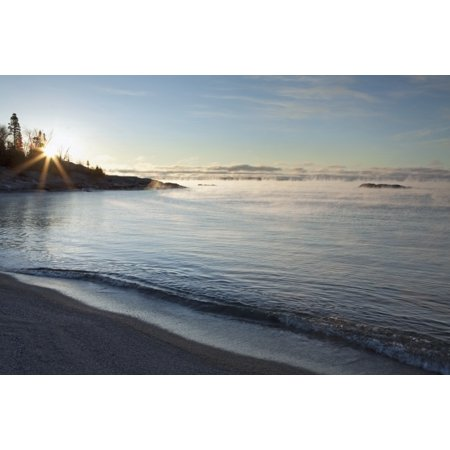 - Winter Mist On Lake Superior At Sunrise Terrace Bay Ontario Canada PosterPrint