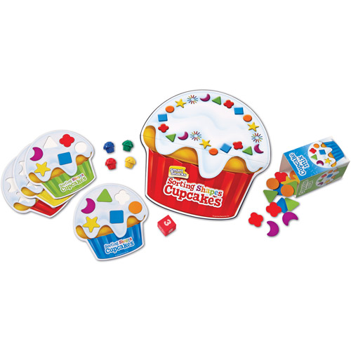 Learning Resources Smart Snacks Shape Sorting Cupcakes Game