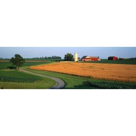 Farm nr Mountville Lancaster Co PA USA Canvas Art - Panoramic Images (18 x 6)