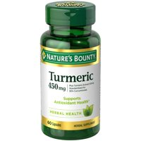 Nature's Bounty Turmeric Herbal Supplement Capsules, 450mg, 60 count