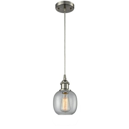 "Innovations 1-LT LED Belfast 6"" Mini Pendant - Brushed Satin Nickel - 516-1P-SN-G104-LED"
