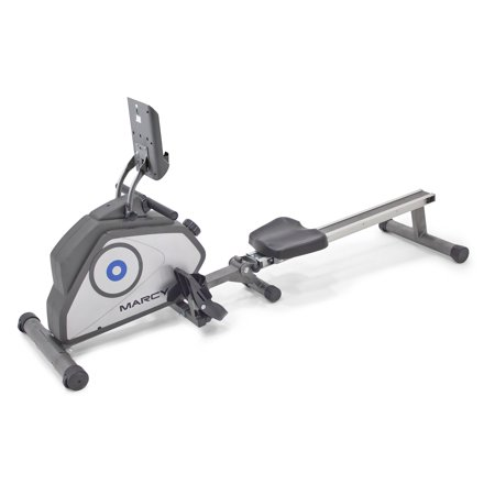 Marcy Foldable 8-Level Magnetic Resistance Rower with Transport Wheels NS-40503RW