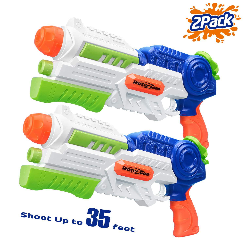Reactionnx Super Soaker Water Gun, 2 Pcs Squirt Guns Water Guns for Kids Adults, High Capacity Fast Soaking... by