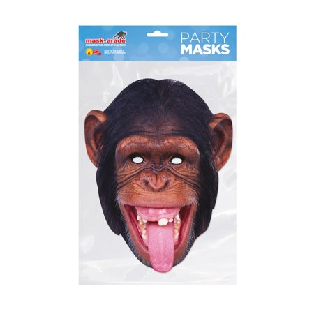 Chimp Facemask – Costume Accessory - Homemade Jungle Costumes