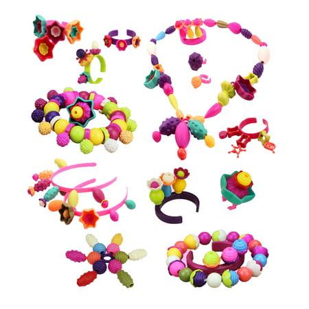 Pop Beads Set Toy Creative DIY Jewelry Making Kit Art Crafts Snap Beads