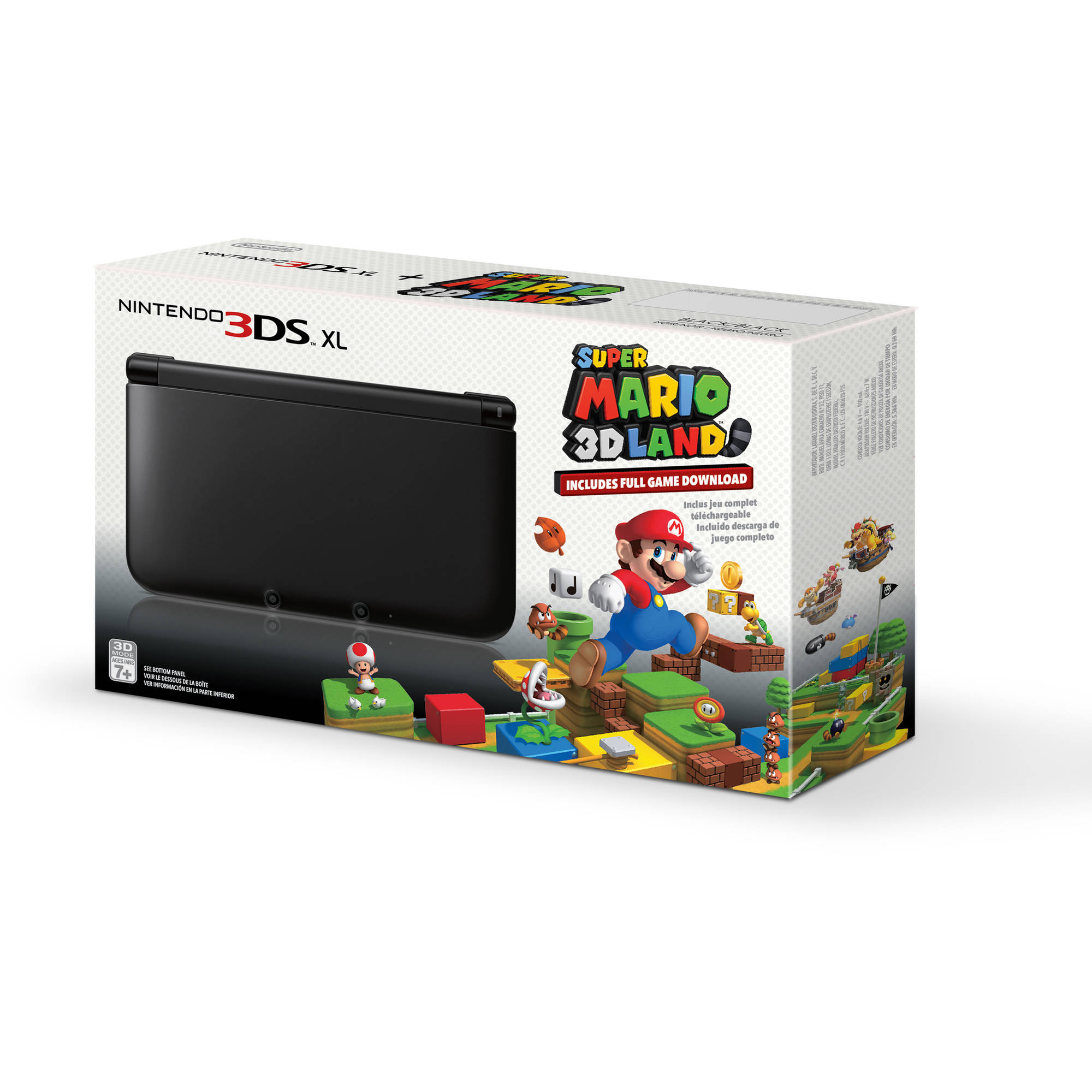 Nintendo 3DS XL Handheld Console with Super Mario 3D Land, Black