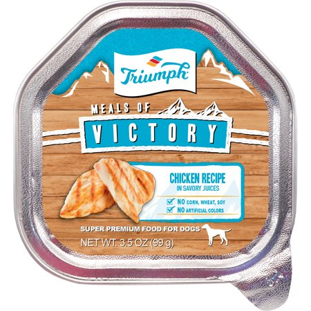 Triumph Pet Industries-Triumph Victory Wet Cup Dog Food- Chicken 3.5 Oz (Case of 15 )