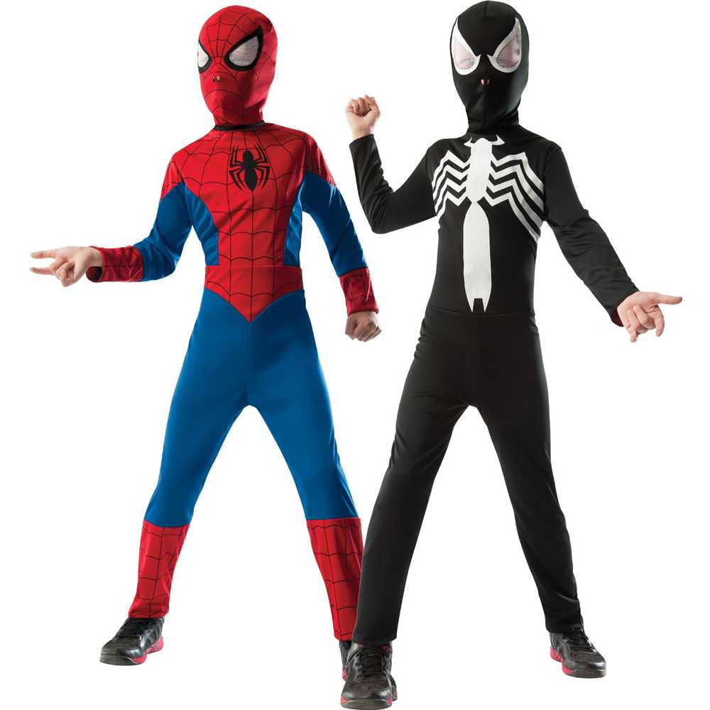 sc 1 st  Walmart & Ultimate Spider-Man / Venom Reversible Kids Costume - Walmart.com