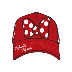 Adult Baseball Hat Minnie Dots, Red - Disney Hats For Adults