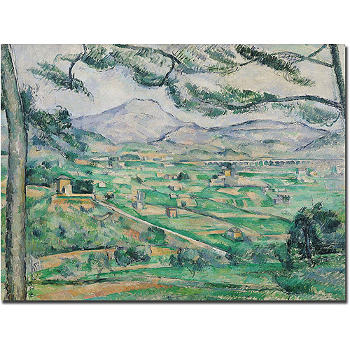 "Trademark Art ""Montagne Sainte-Victoire"" Canvas Art by Paul Cezanne"