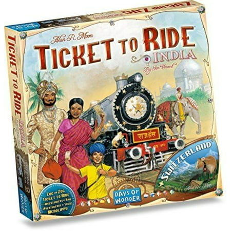 Ticket to Ride: India Expansion Strategy Board Game