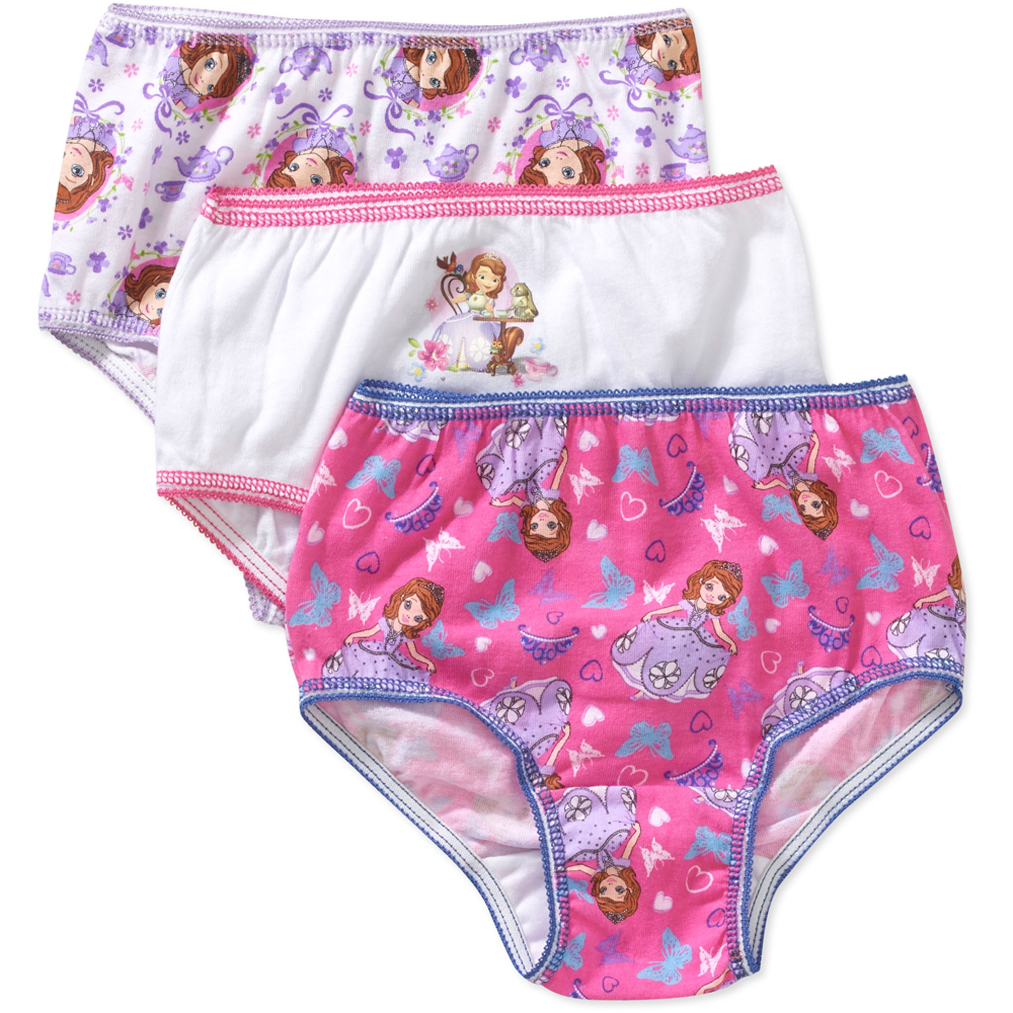Sofia the First Toddler Girls Underwear, 3 Pack
