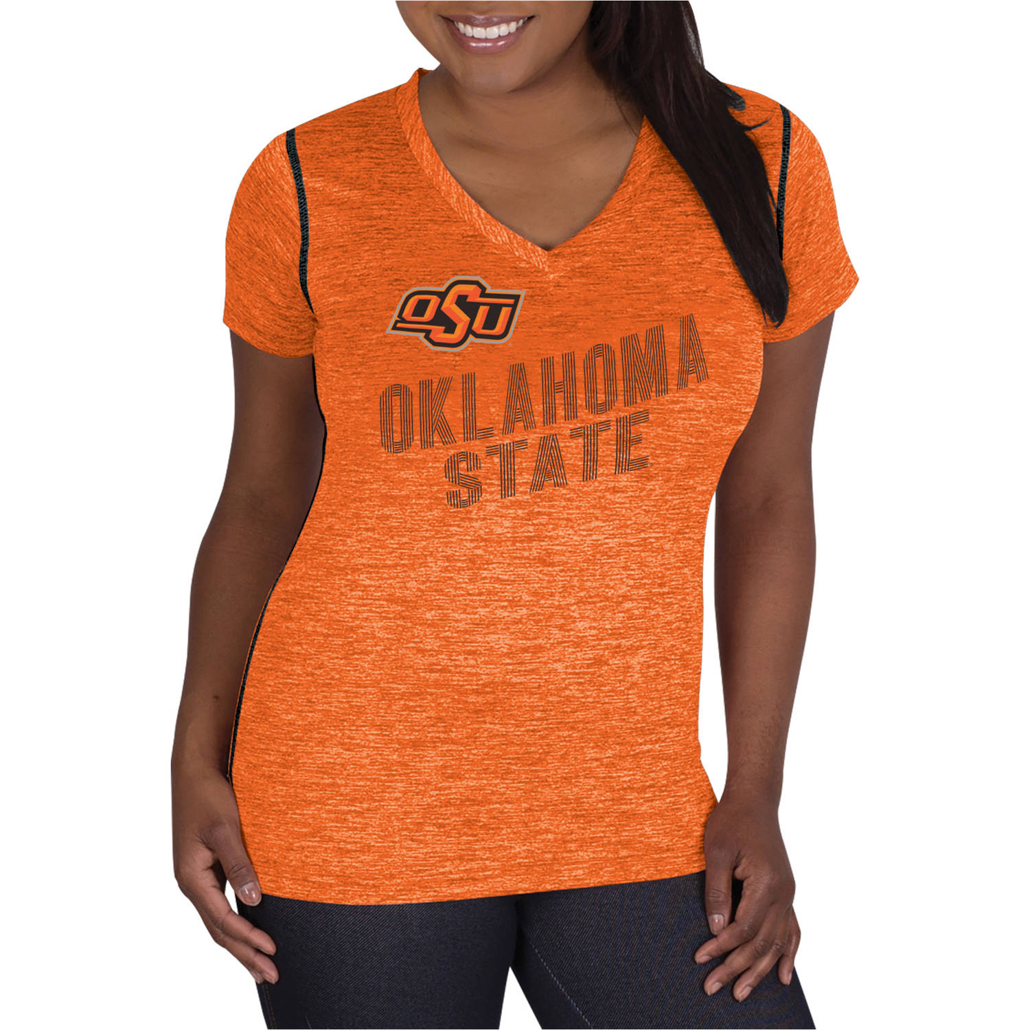 NCAA Oklahoma State Cowboys Ladies Classic-Fit Synthetic V-Neck Tee