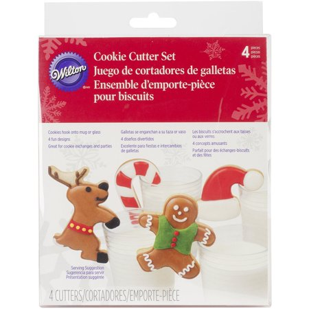 2308-3282 4-Piece Milk and Cookies Cookie Cutter Set, Metal cutters built to last through the years of cookie-making By Wilton Ship from US