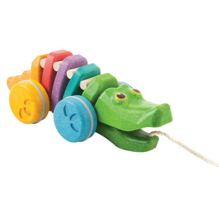Alligator Pull Toy (PlanToys Rainbow Alligator Pull-Along Toy)
