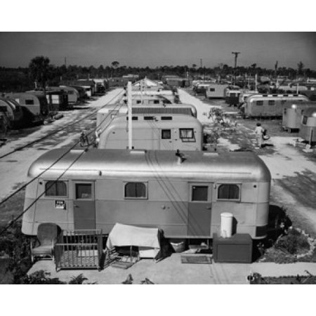 Mobile homes in a trailer park Florida USA Stretched Canvas -  (24 x 36) ()