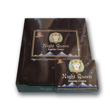 - Kamini Incense Cones Night Queen 120 Cones with Cone Burners 12 Boxes x 10 Cones