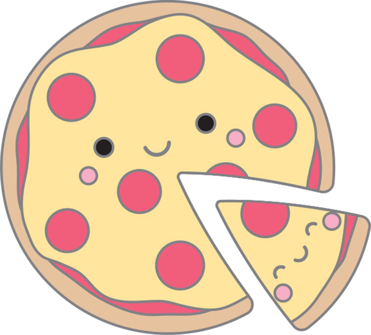 Doodlebug Collectible Enamel Pins 2/Pkg-Pizza Pals - image 1 de 1