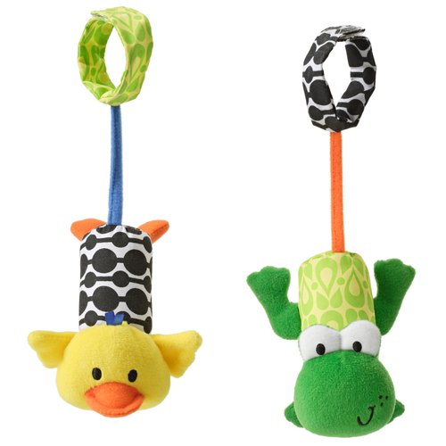 Infantino Tag Along Chimes Duck & Frog