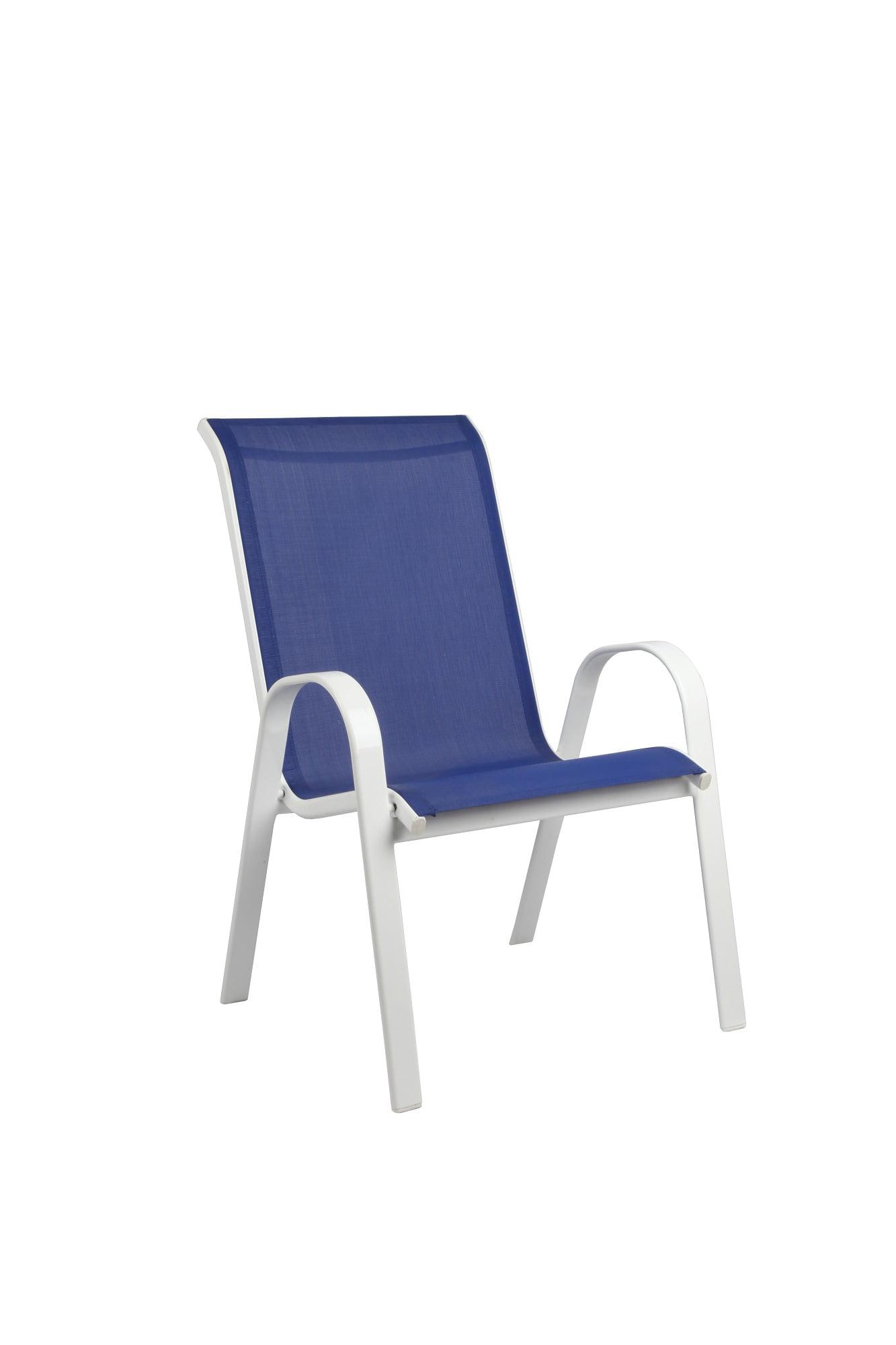 Mainstays Xl Sling Chair Blue White Walmart Inventory