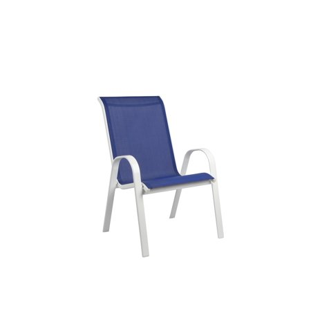Enjoyable Mainstays Xl Sling Chair Blue White Download Free Architecture Designs Meptaeticmadebymaigaardcom