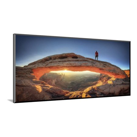 USA, Utah, Canyonlands National Park, Island in the Sky District, Mesa Arch Wood Mounted Print Wall Art By Michele