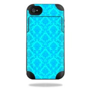 Mightyskins Protective Vinyl Skin Decal Cover for Mophie Juice Pack Plus iPhone 4 / 4S External Battery Case wrap sticker skins Blue Vintage