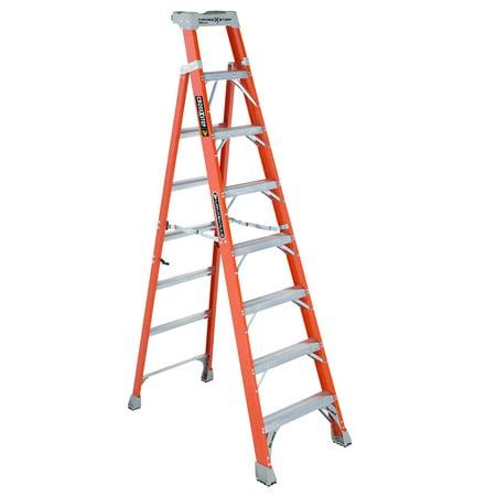 Louisville Ladder FXS1508 8 ft. Fiberglass Cross Step Ladder, Type IA, 300 Lbs Load