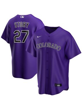 Trevor Story Colorado Rockies Nike Alternate 2020 Replica Player Jersey - Purple