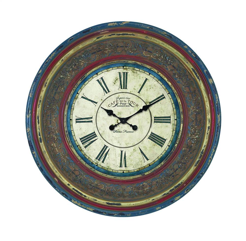 34 in. Dia. Wood Wall Clock