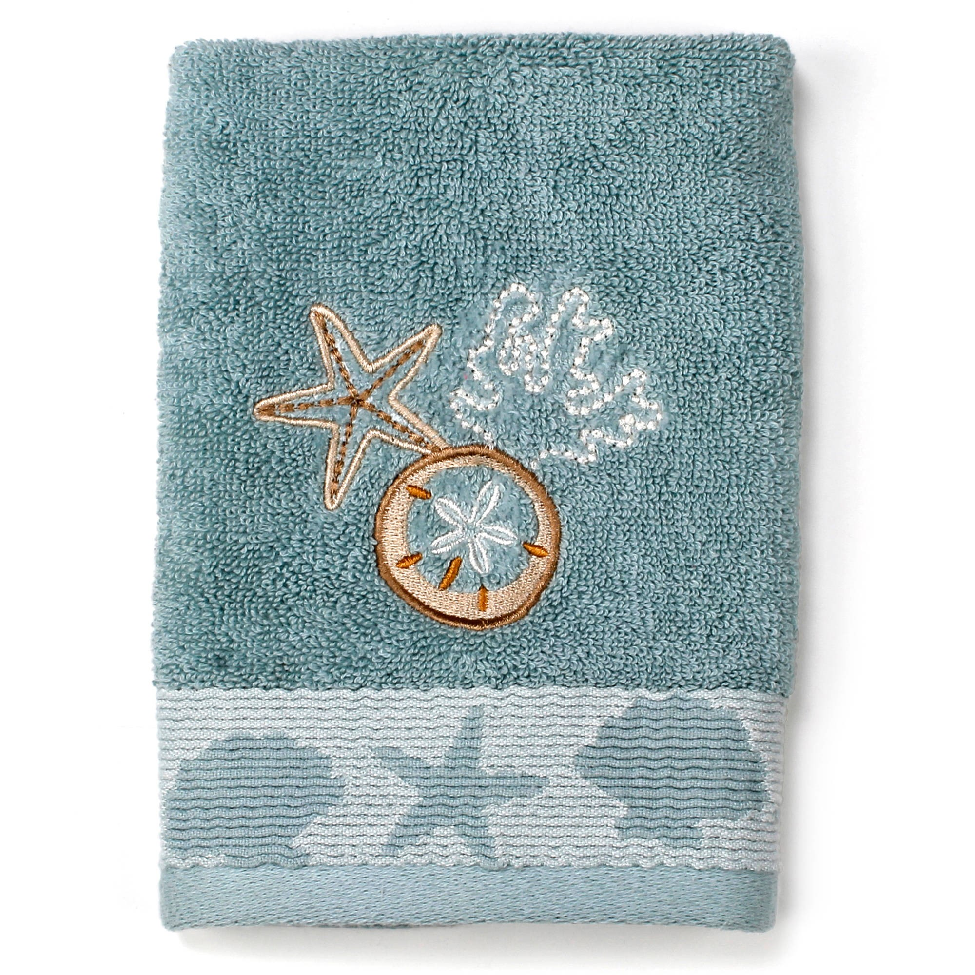 Better Homes and Gardens Coastal Bath Towel Collection by Saturday Knight LTD