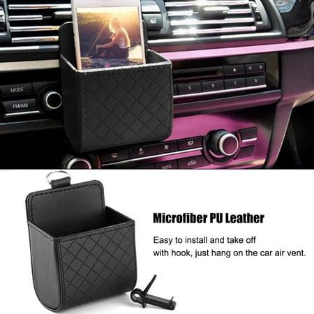 Car Storage Bag >> Car Air Vent Outlet Organizer Storage Bag Phone Case Box Holder Pocket Black Car Phone Box Car Storage Bag