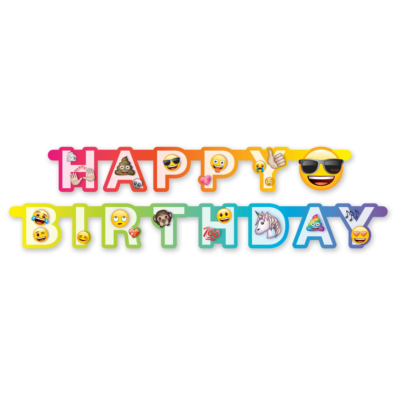 6ft Emoji Birthday Banner