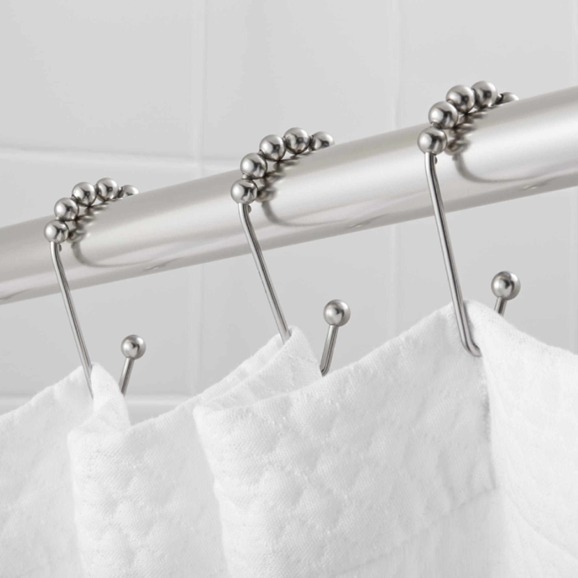 Hotel Style Open V-Glide Roller Glide Shower Curtain Hooks / Rings