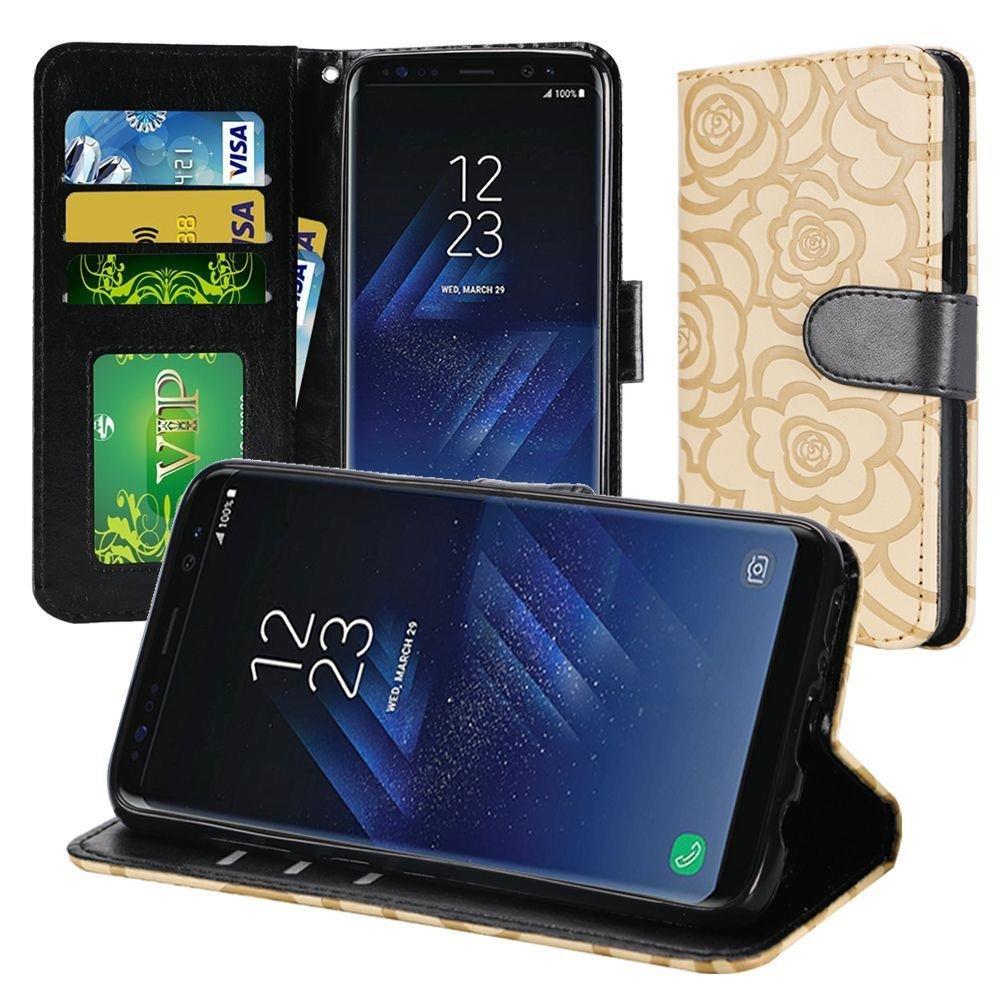 Galaxy S8 PLUS Case - Slim Folio Jacket Flip Wallet Case w/ Credit Card ID Slots For Samsung Galaxy S8 PLUS