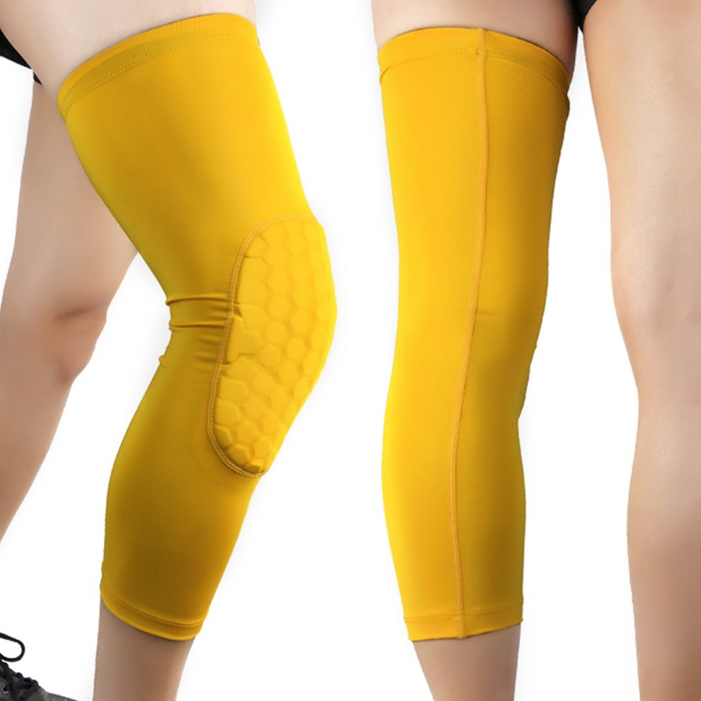 Breathable Sport Basketball Knee Warm Support Brace Gym Long Sleeve