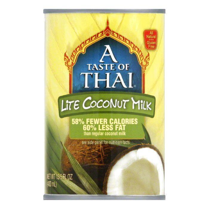 A Taste of Thai Gluten Free Lite Coconut Milk, 13.5 FO (Pack of 12) by