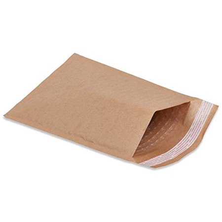 Pack of 100 Natural Kraft Bubble Mailers 12.5 x 18 Brown Padded Envelopes 12 1/2 x 18 by Amiff. Kraft Paper Cushion Envelopes. Exterior Size 12.5 x 19 (12 1/2 x 19). Peel and Seal. Mailing, Shipping. Bubble Lined Mailers Cushioned Mailing