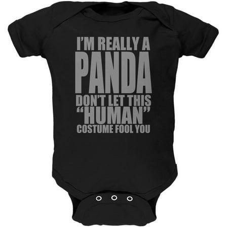 Baby Costume Panda (Halloween Human Panda Costume Soft Baby One)