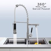 Generic Kitchen Pull Down Faucet with Single Handle Sprayer,2 in 1 Kitchen Sink Faucet Rotating Spout Sink Mixer Tap for Kitchen Bathroom