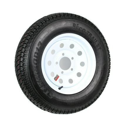 Trailer Tire Rim ST175/80D13 175/80 D 13 B78-13 LRC 5 Lug Wheel White