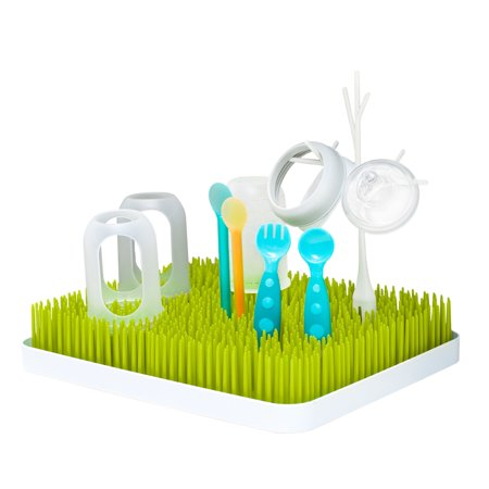 Boon Grass Countertop Drying Rack, Low-Profile Easy To Clean Baby Bottle Drying Rack,