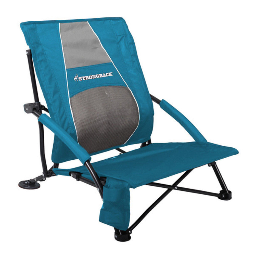 Strongback Low Gravity Folding Beach Chair with Superior Back Support - Walmart.com  sc 1 st  Walmart & Strongback Low Gravity Folding Beach Chair with Superior Back ...