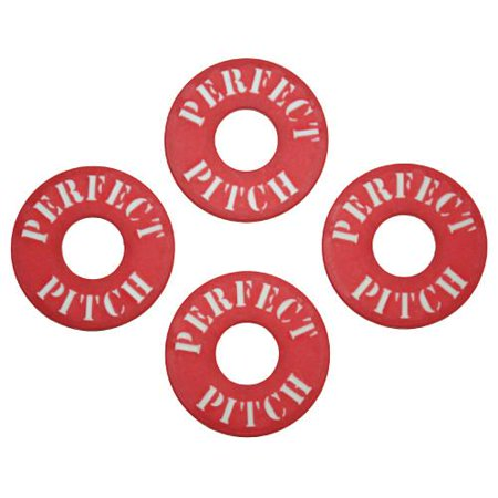 Perfect Pitch Washers, 4 pack, Red