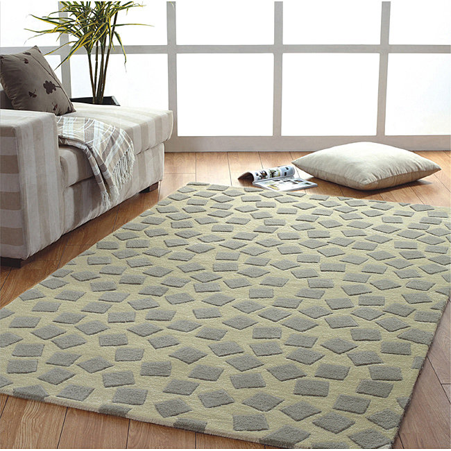Jovi Home  Dispersion Hand-tufted Grey/ Taupe Wool Rug (4' x 6')