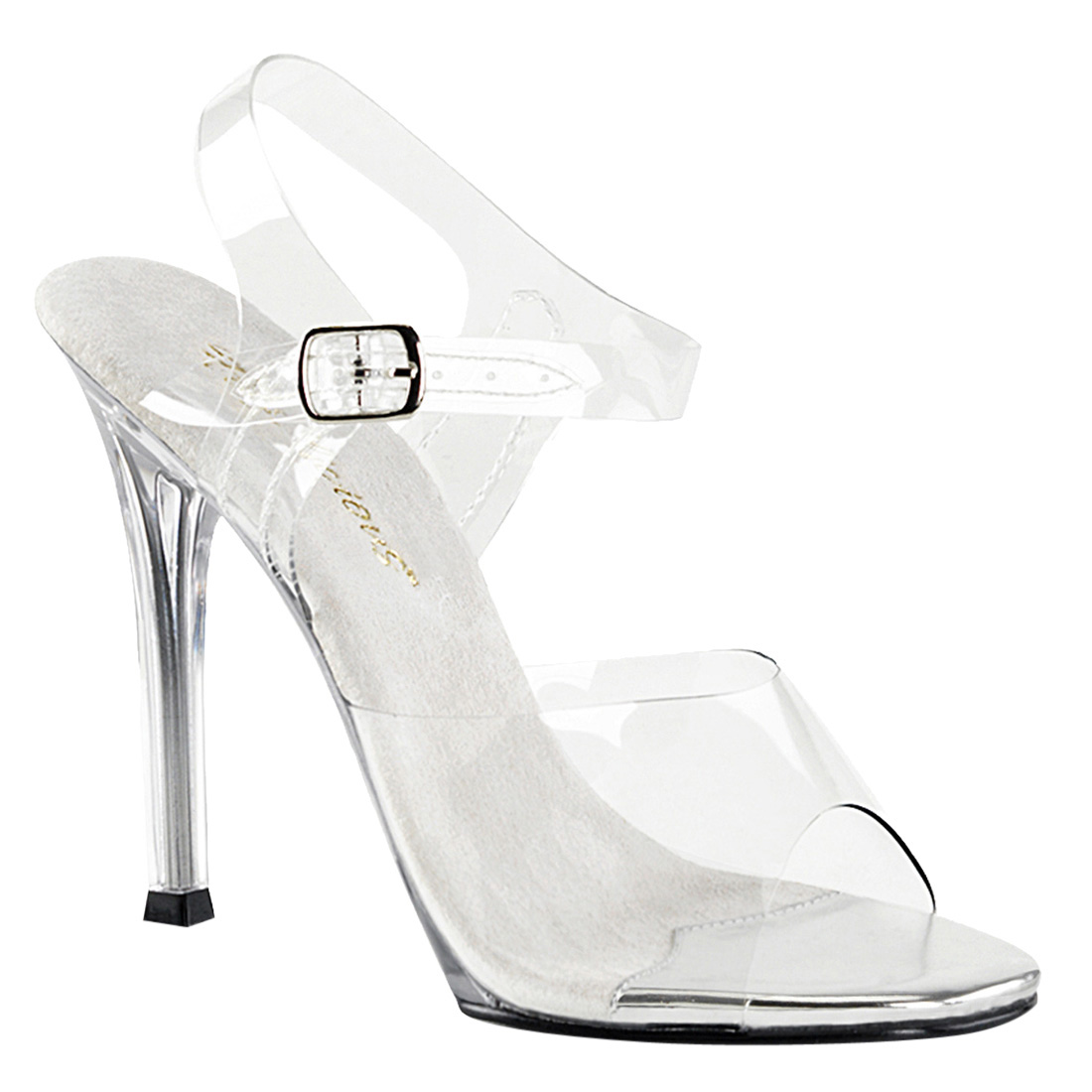 Fabulicious GALA-08 Women's Clear High Stiletto Heel Ankl...